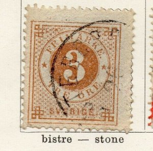 Sweden 1872 Early Issue Fine Used 3ore. NW-04588