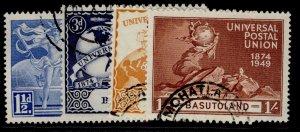 BASUTOLAND GVI SG38-41, anniversary of UPU set, FINE USED.