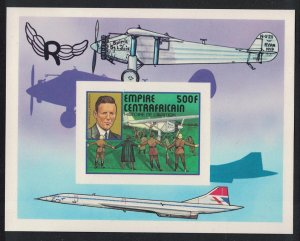 Central African Empire Lindenberg Aviation Concorde MS De-Luxe 1977 MNH