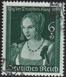 Stamp Germany Mi 700 Sc B146 1939 WWII Fascism Art Durer Venetian Woman Used
