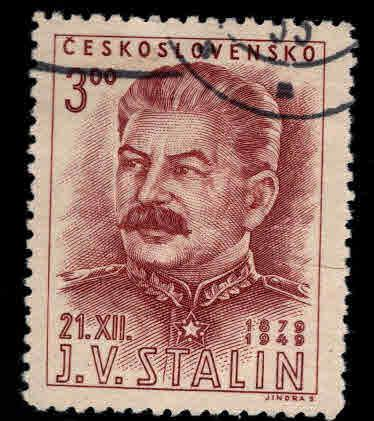 Czechoslovakia Scott 400 Used CTO 1949 Stalin stamp set