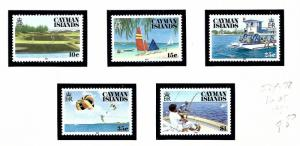 Cayman Is 574-78 NH 1987 Tourism