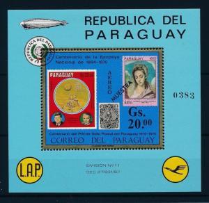 [35591] Paraguay 1971 Centenary postage stamps Muestra Souvenir Sheet MNH