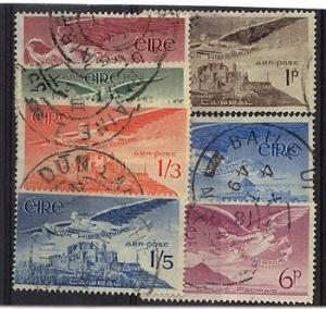 Ireland - Sc. #C1-C7 Used 1948/1965 Airmails Complete Set of Seven