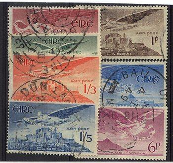 Ireland - Sc. #C1-C7 Used 1948/1965 Airmails Complete Set of Seven
