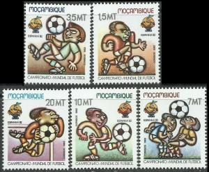 1982	Mozambique	884-888	FIFA / 1982 World championship on football of Spanien	4,