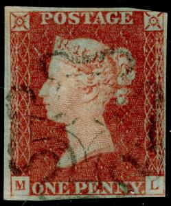 SG8, 1d red-brown, USED. BLACK MX. ML