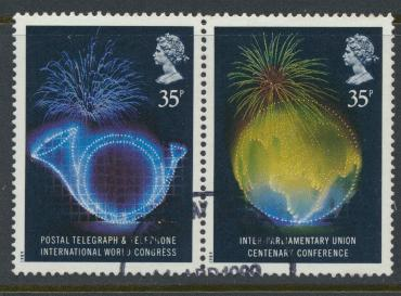 Great Britain SG 1434a  ( SG 1434 & 1435 ) Used   - Anniversaries