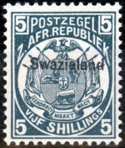 Swaziland 1890 5s Slate-Blue SG8 V.F Very Lightly Mtd Mint