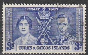 Turks & Caicos Is #77 F-VF Used  (S3522)