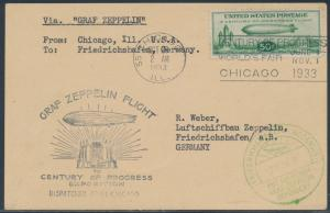 #C18 ON ZEPPELIN FLIGHT CHICAGO TO GERMANY WITH ON-BOARD CANCELS BS6124