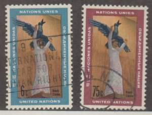 United Nations Scott #183-184 Stamps - Used Set