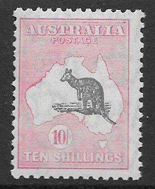 Australia roo 10 shilling pink & gray
