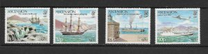 ASCENSION ISLAND - 1980 LONDON STAMP EXHIBITION - SCOTT 257 TO 260 - MNH