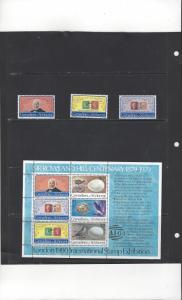 St. Vincent Grenadines 173-5a  Sir Rowland Hill Souvenir Sheet MNH