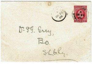 Sierra Leone 1906 Moyamba cancel on stationery envelope to Bo