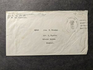 APO 182 GUAM, MARIANNAS ISLANDS 1947 Army Air Force Cover 20th FIGHTER WING