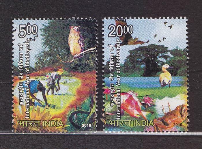 India MNH 2427-8 International Year Of Biodiversity 2010