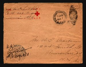 US - 3 WWI AEF Covers / Censored / See Images For Condition (29) - Z16162