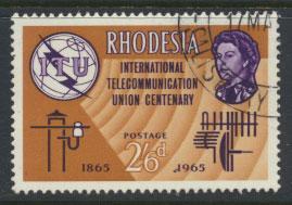 Rhodesia   SG 353  SC# 202    Used  ITU Centenary  see details