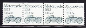 Motorcycle 1913 .5c Plate Number-4 as a Line Pair.