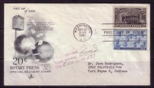 U.S. FDC Sc. # E19 / 935 Special Delivery  POSTALLY USED L26