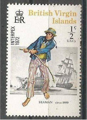 VIRGIN ISLANDS, 1972, MNH 1/2c Seaman, Scott 237