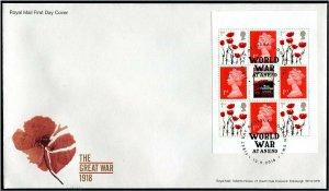 HERRICKSTAMP GREAT BRITAIN Sc.# BK221 World War I 1918 Booklet Pane Cover