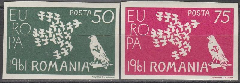 Romania Europa 1961 MNH Imperf  (S1956)