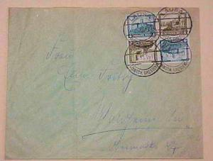 GERMAN COVER TETE BECHE BLOCK APRIL 1933 #SK15 x2 cat.$33.50 with large premium