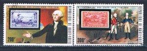 Burkina Faso 356-57 Used Washington on Stamps 1975 (MV0126)+