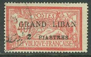 Lebanon # 10 Overprint on French stamp (1) USED