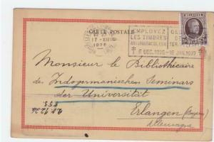 Belgium 1926  stationary  stamped post card  R20377