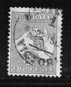 Australia 38: 2p Kangaroo, used, F-VF
