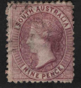 South Australia Scott 48b compound perf's11.5x12.5 Used red violet color