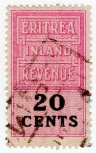 (I.B) BOIC (Eritrea) Revenue : Duty Stamp 20c