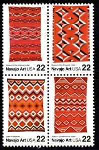 USA Scott 2235-2238b MNH** Navajo Rug Art Block