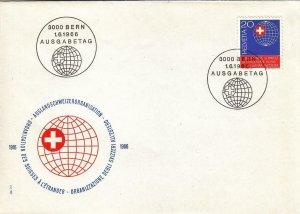 1966, Switzerland: 50th Anniv. Society of Swiss Abroad, Unaddressed, FDC (D7116)