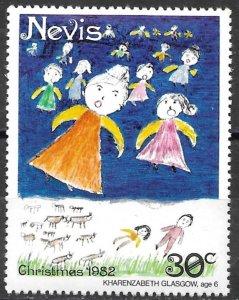 Nevis 30c Christmas issue of 1982, Scott 160 MNH