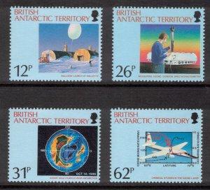 BRITISH ANTARCTIC 1991 Arctic Ozone Hole; Scott 176-79, SG 192-95; MNH