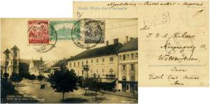 Hungary 100K and 500K Harvesting Wheat and 400K Parliament Building 1925 PPC ...
