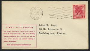 #645 ON 1ST BERT FDC CACHET MAY 26,1928 WASHINGTON, DC BU1379
