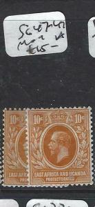 EAST AFRICA AND UGANDA  (P3105B)  KGV   10C  SG 47-47A      MOG