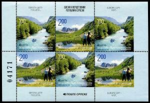 HERRICKSTAMP BOSNIA & HERZEGOVINA - Serbia Admin Sc.# 449 Europa 2012 Stamp S/S