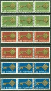 PORTUGAL : 1968. Europa. 6 sets. Mint Never Hinged.