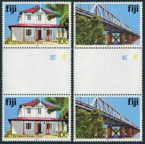 Fiji 414i,418i gutter,MNH. 1990.Visitors' Bureau.Bridge