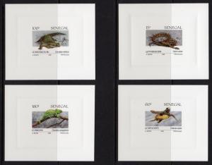 Senegal 1991 Sc#914/917 REPTILES/TURTLES 4 DELUXE Souvenir Sheets MNH