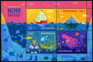 HERRICKSTAMP NEW ISSUES HUNGARY Sc.# 4507 For Youth 2019 - Jules Verne S.P.