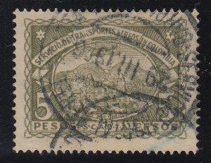 Colombia SCADTA 1923-28 5p Olive Green Used. Scott C50