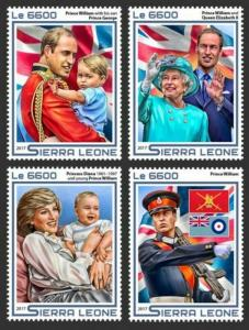 Sierra Leone - 2017 Prince William - 4 Stamp Set - SRL17511a